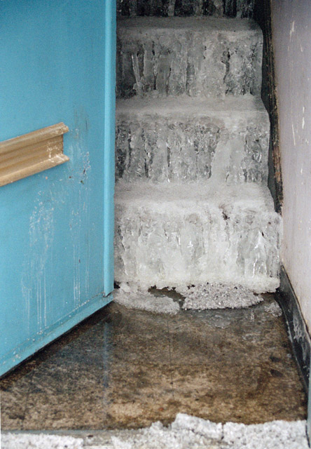 Detail I-95 (Ice On Stairs)